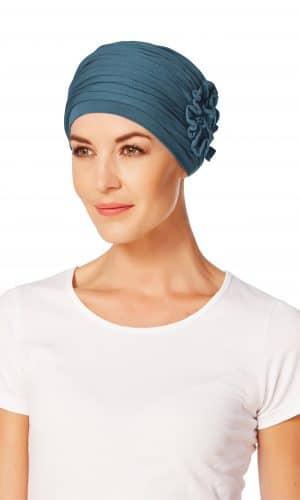 LOtus Turban Ocean Blue by Christine Head wear