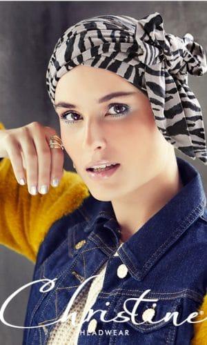 Karla V Scarf Zebra prints Christine headwear