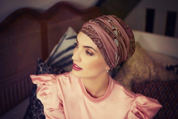 Boho Scarlett Turban set - Paisley Rose
