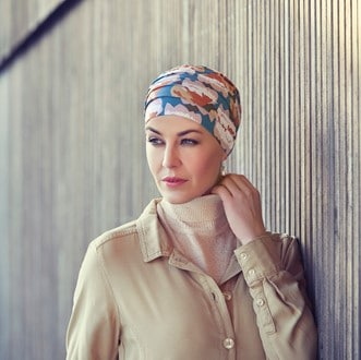 Colour in main image is - Fauna Paths Gallery Images - Flora Paths and Marquise Multirinted turban - Autumn Cherries