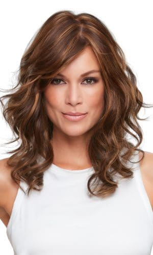 Alexis double monofilament synthetic wig