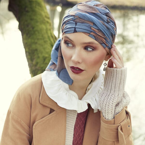 Beatrice Turban with ribbons - Autumn Illusions
